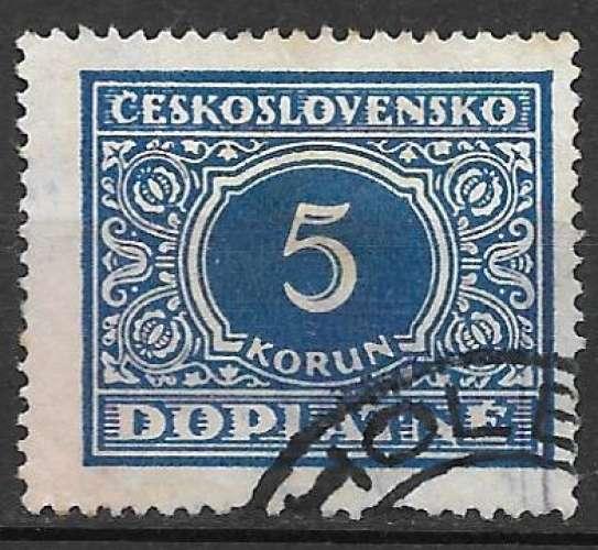 Tchecoslovaquie Taxe 1928 Y&T 64 oblitéré (trace de charnière)