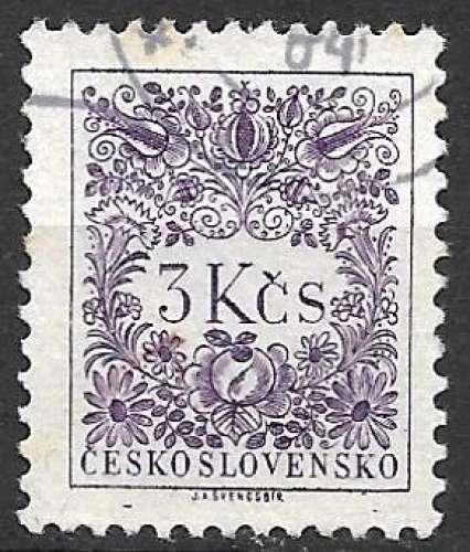 Tchecoslovaquie Taxe 1954 Y&T 90 oblitéré