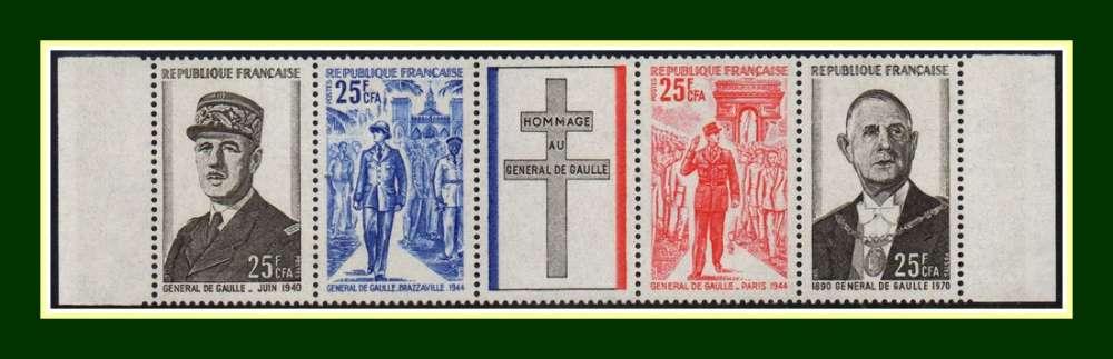 Réunion CFA N° 403A ** (cote 10 €) Bande De Gaulle