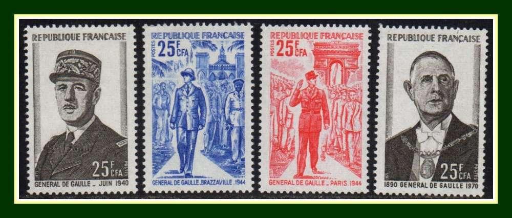 Réunion CFA N° 400 - 403 ** (cote 10 €) De Gaulle