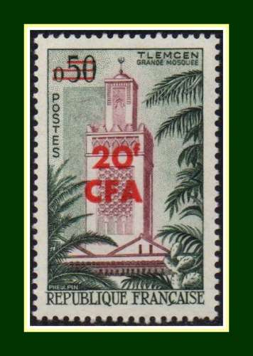Réunion CFA N° 351 ** (cote 19 €) Tlemcen