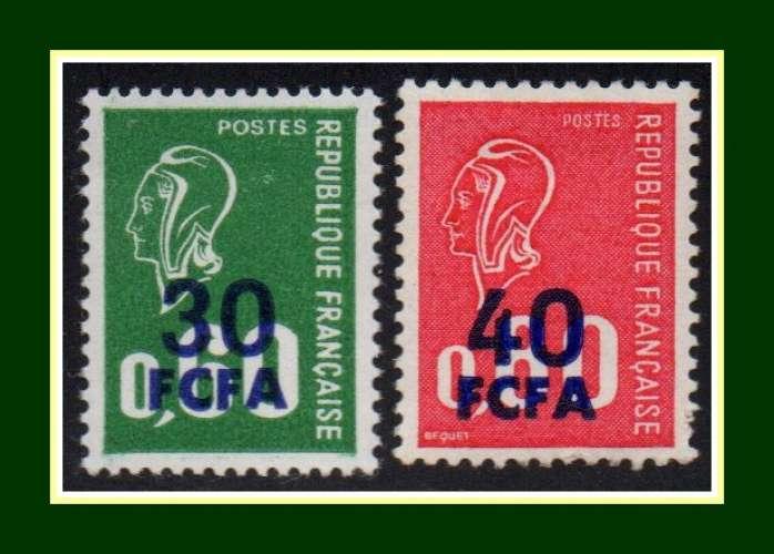 Réunion CFA N° 429 430 ** Marianne Béquet surchargés CFA