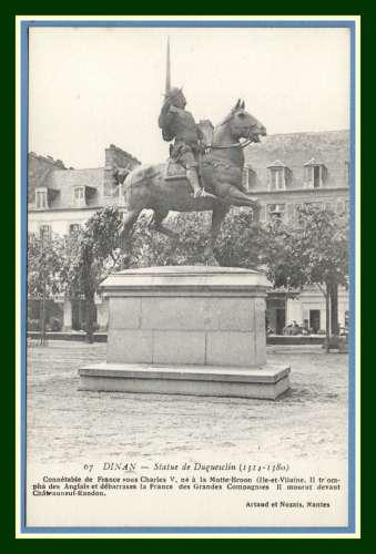 CPA Dinan Statue de Duguesclin non écrite cheval