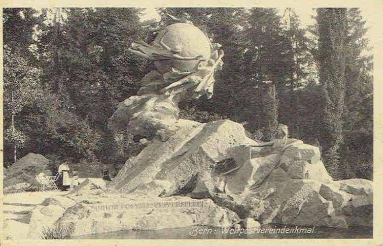 CPA  BERNE : Monument de l'Union postale universelle
