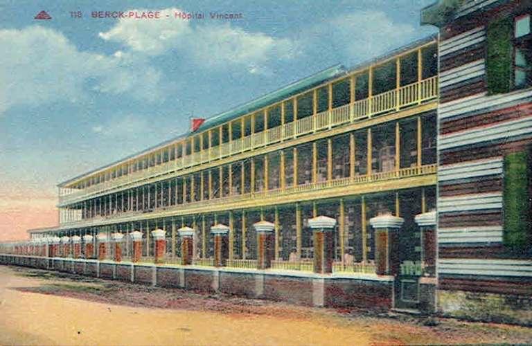 CPA  BERCK-PLAGE : Hôpital Vincent