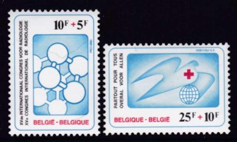 PAIRE NEUVE DE BELGIQUE - 15E CONGRES INTERNATIONAL DE RADIOLOGIE N° Y&T 2004/2005