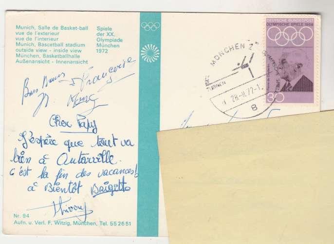 cpm Munich Salle de Basket-Ball JO 1972 TimbréeYT 429
