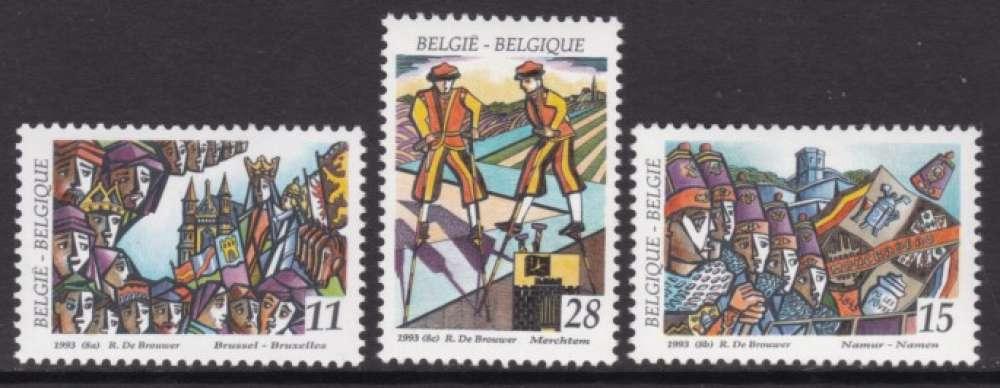 SERIE NEUVE DE BELGIQUE - FOLKLORE N° Y&T 2509 A 2511