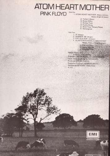 Vinyle 1972 France Pink Floyd Atom Heart Mother  Harvest SHVL 781   2C 064 04550
