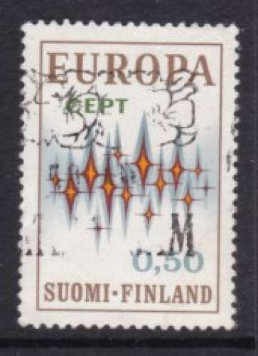 TIMBRE OBLITERE DE FINLANDE - EUROPA 1972 N° Y&T 666