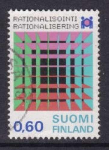 TIMBRE OBLITERE DE FINLANDE - CENTENAIRE DE LA RATIONALISATION FINLANDAISE N° Y&T 716