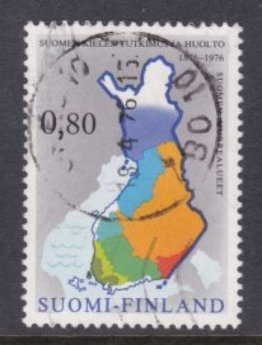 TIMBRE OBLITERE DE FINLANDE - CENTENAIRE DE LA SOCIETE DE LA LANGUE NATIONALE N° Y&T 748