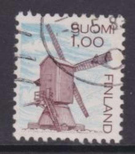 TIMBRE OBLITERE DE FINLANDE - MOULIN A VENT DE HARRSTRÖM (SERIE COURANTE) N° Y&T 883