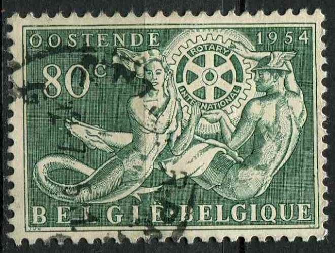 BELGIQUE 1954 OBLITERE N° 953