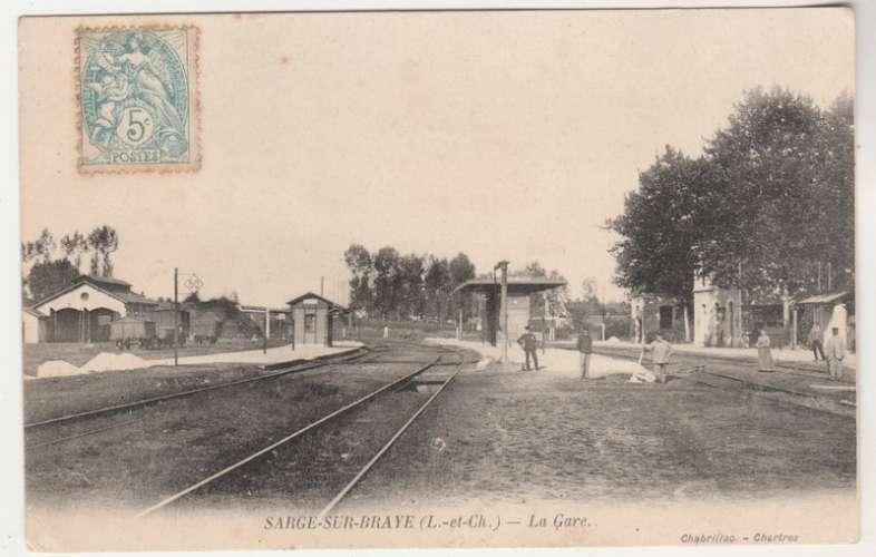 cpa 41 Sargé-sur-Braye  La Gare