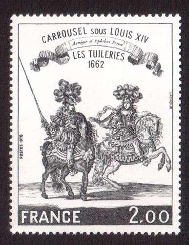 France 1978 Y&T 1983 **  les Tuileries, dessin du Cabinet du Roy  cote 2,00€