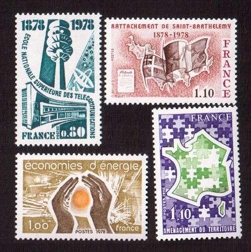 France 1978 Y&T 1984 - 1985 - 1995 - 2007 **    cote 2,45€
