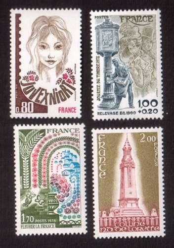 France 1978 Y&T  2003 - 2004 - 2006 - 2010 **   cote 3,90€