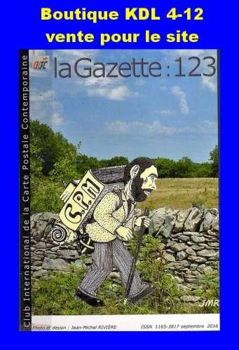 CICPC - Couverture Gazette 123 - Pèlerin de la CPM par Jean-Michel RIVIERE