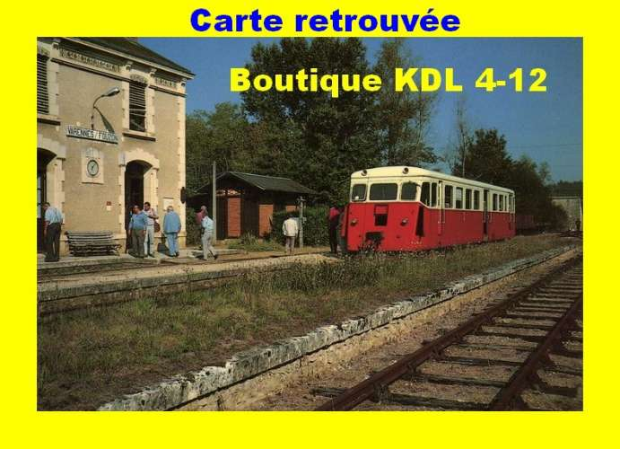 BALIZIAUX 00044 - Autorail De Dion X 205 en gare - VARENNES SUR FOUZON - Indre - BA