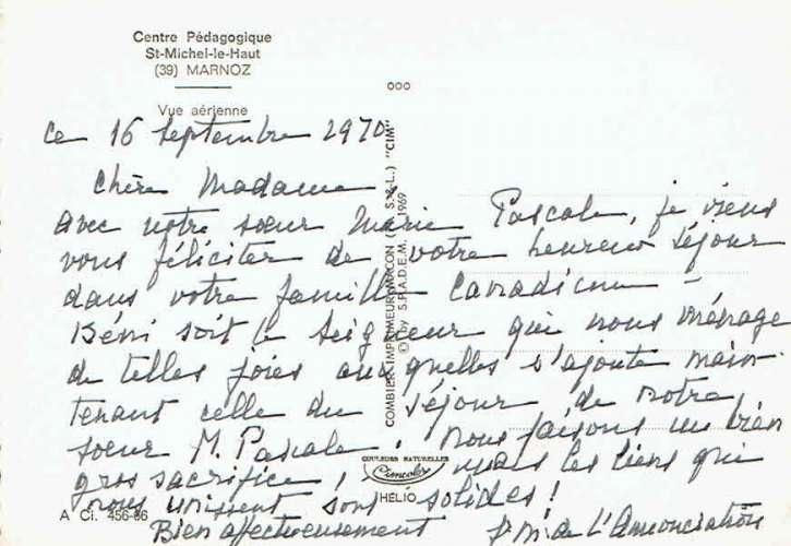MARNOZ : Centre Pédagogique St-Michel-le-Haut