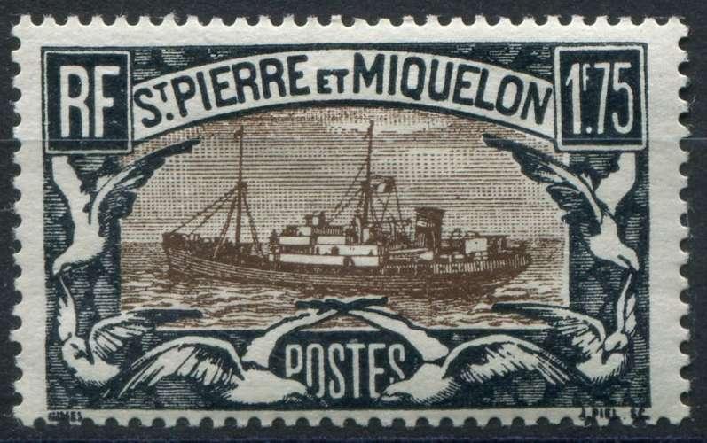 SAINT-PIERRE-ET-MIQUELON  _  Y & T  :  N°  154  *  -  Cote  :   3,50  €