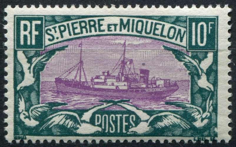 SAINT-PIERRE-ET-MIQUELON  _  Y & T  :  N°  158  *  -  Cote  :   100,00  €