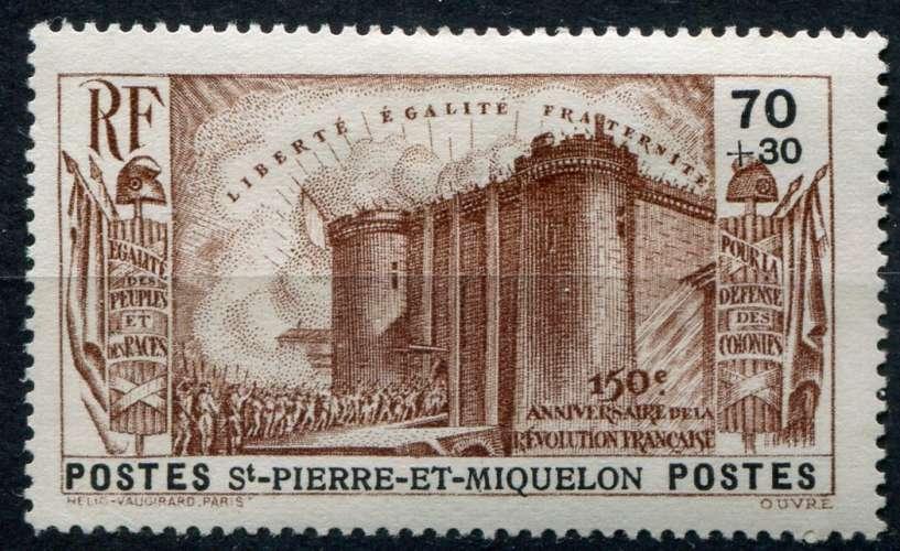 SAINT-PIERRE-ET-MIQUELON  _  Y & T  :  N°  192  *  -  Cote  :   20,00  €