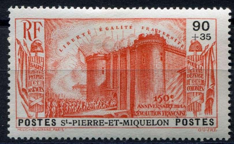 SAINT-PIERRE-ET-MIQUELON  _  Y & T  :  N°  193  *  -  Cote  :   20,00  €