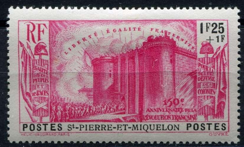 SAINT-PIERRE-ET-MIQUELON  _  Y & T  :  N°  194  *  -  Cote  :   20,00  €