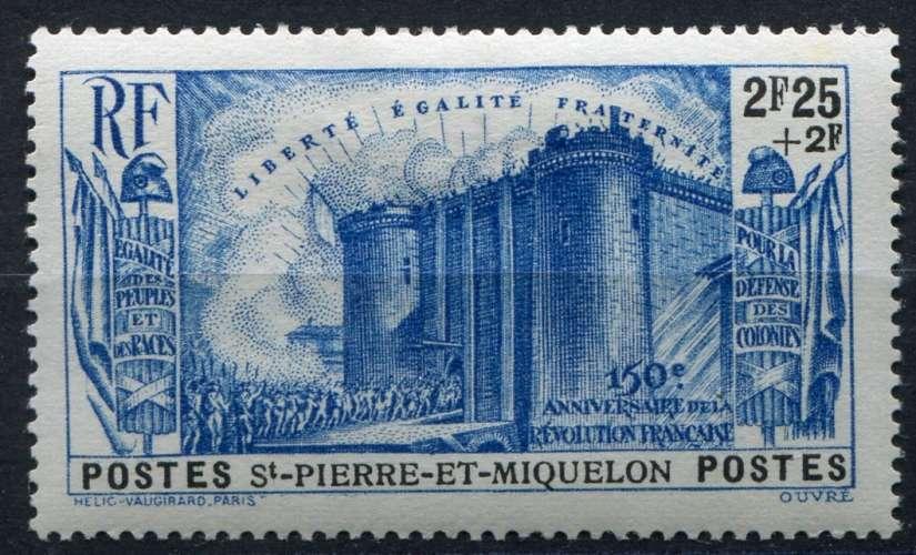 SAINT-PIERRE-ET-MIQUELON  _  Y & T  :  N°  195  *  -  Cote  :   20,00  €