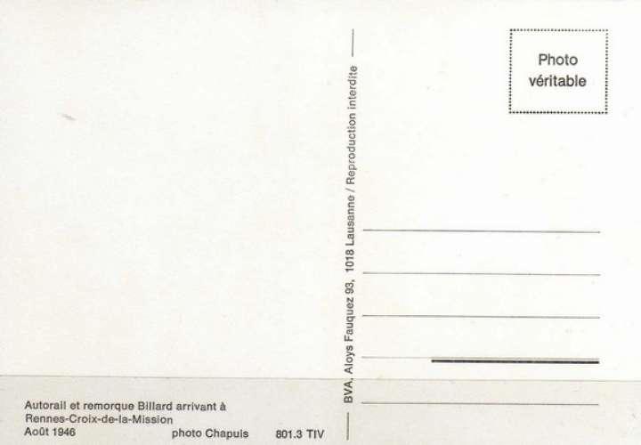 BVA 801-03 - Autorail Billard à la station RENNES CROIX DE MISSION - TIV