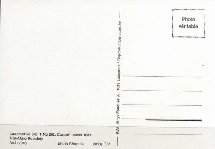BVA 801-08 - Loco Corpet-Louvet 040 T n° 202 à SAINT-MALO ROCABEY - Ille et Vilaine - TIV