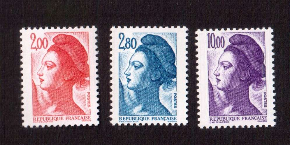 France 1983 Y&T 2274 à 2276  **  Liberté de Delacroix  cote 7,00€