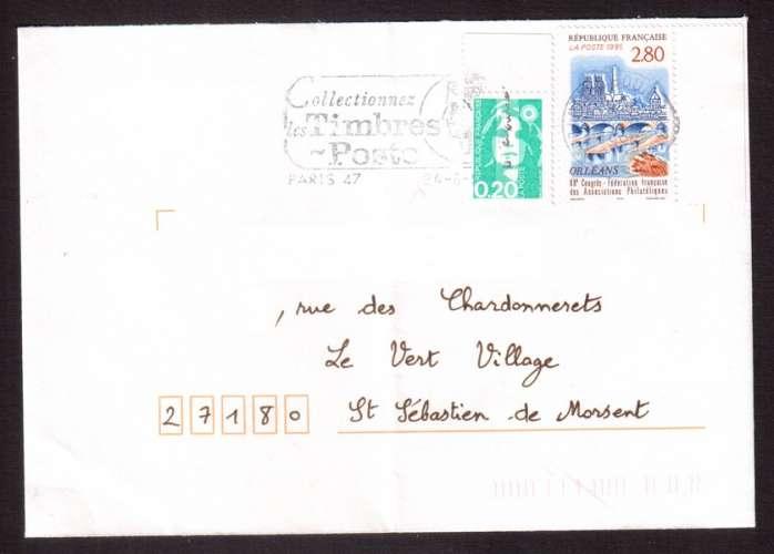 France 1995 Y&T 2953 (o) 68e congrès fédération française des associations philatéliques à Orléans..