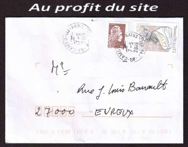 Au profit du site France 2017 Y&T (o) fête du timbre la valse sur lettre