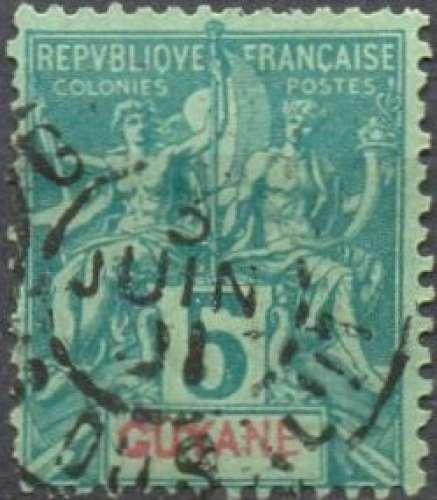 Guyane 33 oblitéré