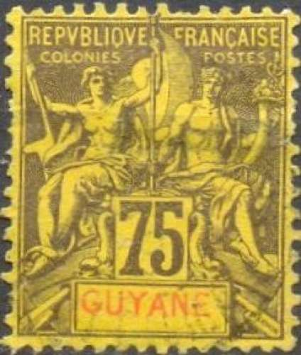 Guyane 41 oblitéré