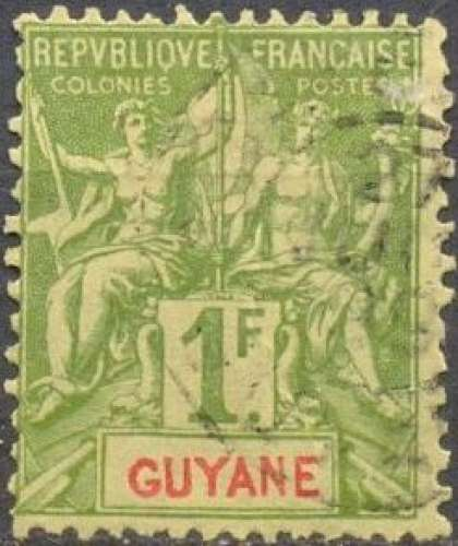 Guyane 42 oblitéré