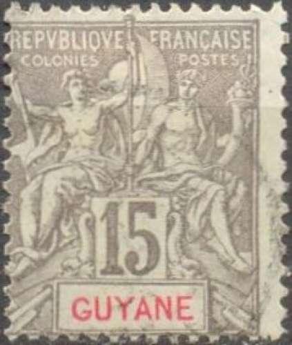 Guyane 45 oblitéré