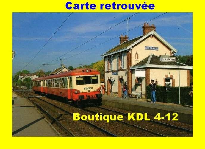 BALIZIAUX 00109 - Autorail Caravelle en gare de MAREIL SUR MAULDRE - Yvelines - SNCF