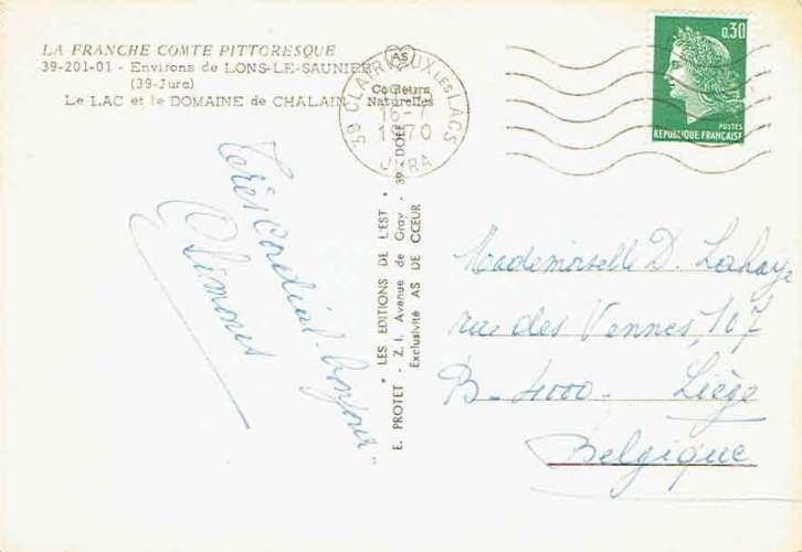 Environs de LONS-le-SAUNIER : Le Lac et le Domaine de Chalain