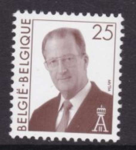 TIMBRE NEUF DE BELGIQUE - ROI ALBERT II (SERIE COURANTE 1998) N° Y&T 2754
