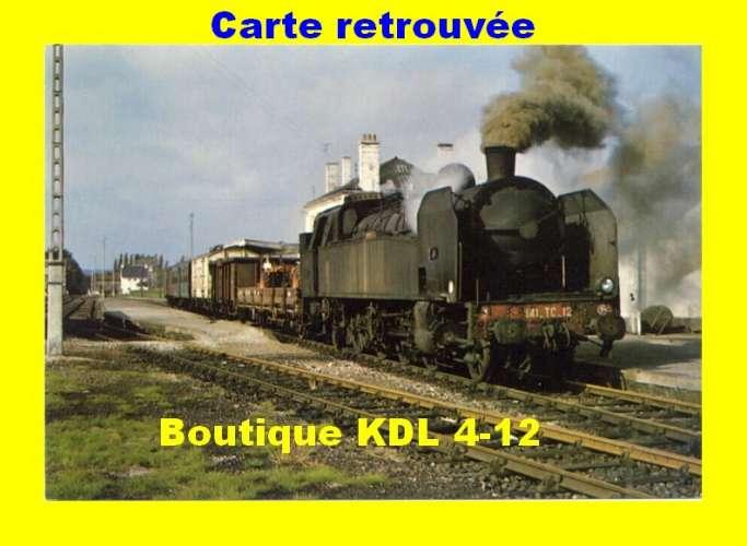 COPEF 75 - 1267 - Train MV - Loco 141 TC 12 en gare de PAIMPOL - Côtes d'Armor - RB
