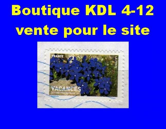FRANCE - Oblitéré sur fragment - AA 120 Gentianes