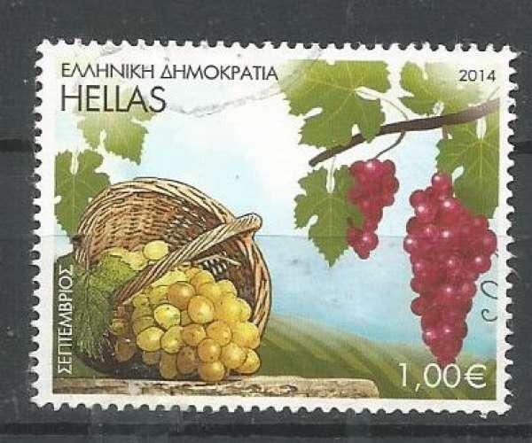 Grèce 2014 - YT n° 2718 - Septembre - vignes et raisin - cote 1,80