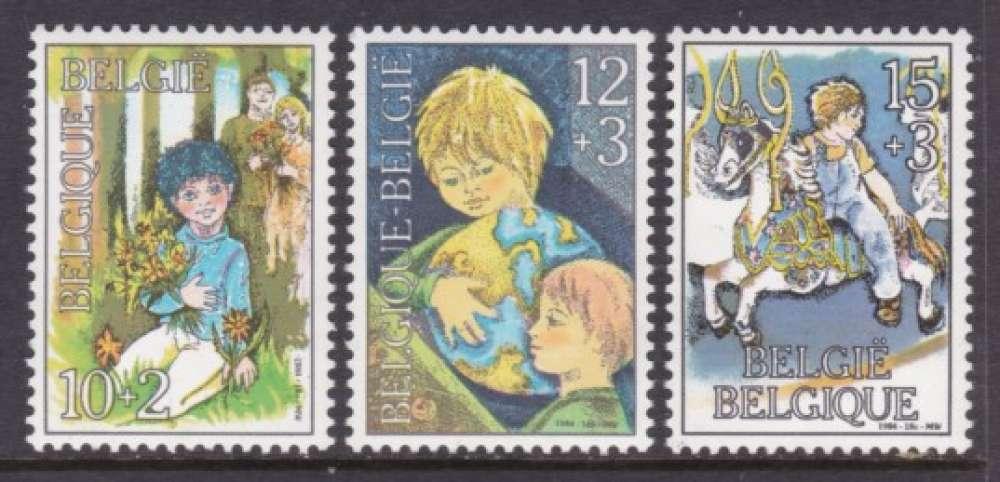 SERIE NEUVE DE BELGIQUE - ENFANTS N° Y&T 2151 A 2153
