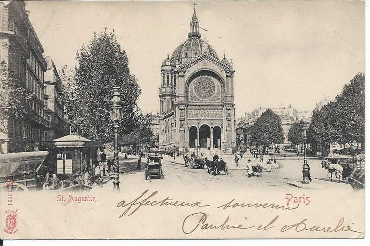 CPA - 75 - Paris - Eglise Saint-Augustin - 1904 - Dos scanné