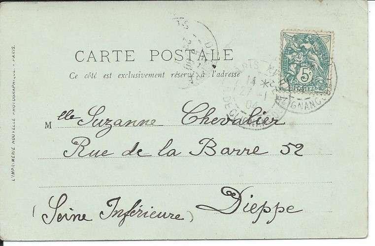 CPA - 75 - Paris - Sacré-Coeur - Funiculaire - 1904 - Dos scanné