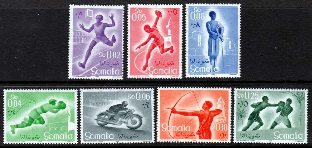 SERIE NEUVE DE SOMALIE ITALIENNE - SPORTS DIVERS N° Y&T 259 A 265
